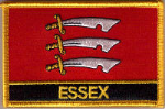 Essex Embroidered Flag Patch, style 09.